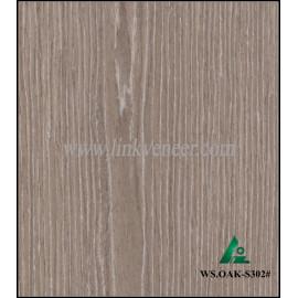 WS.OAK-S302#, wash oak engineered veneer reconstituted veneer recon veneer supplier
