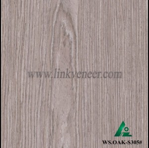 WS.OAK-S305#, washed oak wood engineered veneer for plywood