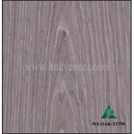 WS.OAK-T1790, 1mm engineered wash oak wood veneer for furniture