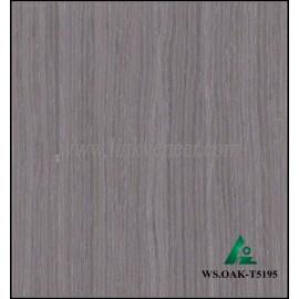 WS.OAK-T5195, 0.15mm engineered wash gray oak wood veneer for furniture