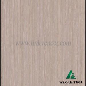 WS.OAK-T5995, 0.6mm engineered wash oak wood veneer for furniture