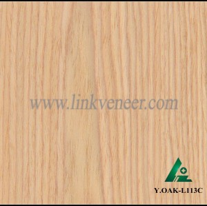 Y.OAK-L113C, recon oak face veneer engineered wood veneer size 2500*640mm slice wood veneer