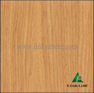 Y.OAK-L248C, Factory supply high qulaity recon oak face veneer