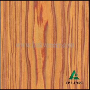 TP-L2769C, engineered tulip wood veneer of golden yellow