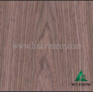 WT-F1879C, factory recon walnut veneer in plywood engineered face veneer 0.60mm engineered walnut veneer