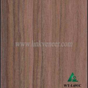 WT-L691C, engineered walnut veneer of exotic fantasy (straight vein)