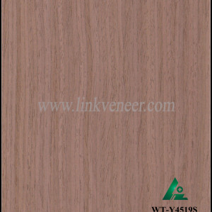 WT-Y4519S, engineered face veneer /0.4mm face veneer black walnut colour veneer /artificial wood veneer