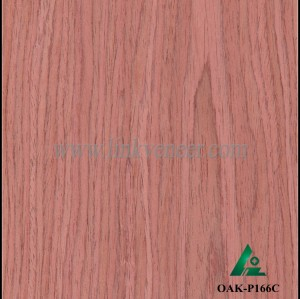OAK-P166C, Engineered rotary cut red oak wood veneer