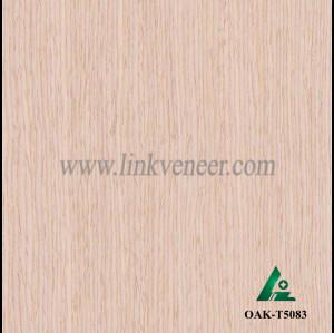 OAK-T5083, Engineered straight grain oak wood veneer