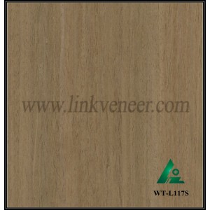 WT-L117S, Engineered wood veneer Walnut veneer for interior doors face and plywood face