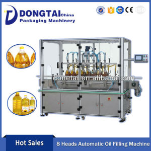 Automatic filling machine line for cooking oil