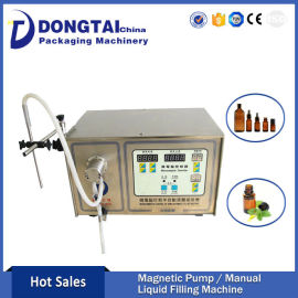 Hot Sale Single head semi automatic Magnetic Pump Liquid Filling Machine