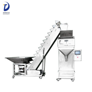 Semi-automatic weighing particle packing machine