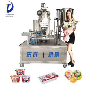 Automatic Paper Yogurt Cup Filling And Sealing Machine