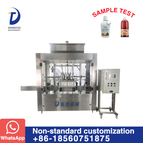 DT-FB-16H Explosion Proof Type Inline Time Control Timing Liquid Filling Machine