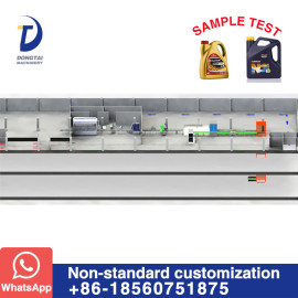 Automatic Lubricants Bottle Filling and packaging Line