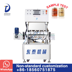 Automatic linear type vacuum capping machine