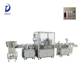 Automatic perfume/eyedrop packing filling machine,e-liquid bottle filling capping and labeling machine