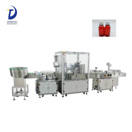 Shandong factory chubby gorilla bottle filler,e-liquid /syrup liquid filling capping and labeling machine