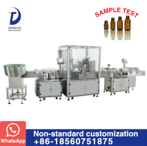 DTL-17F  Non - standard bottle liquid filling capping labeling machine