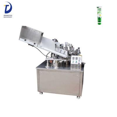 automatic small cosmetics hand cream tube filling sealing machine