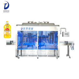 5L Automatic Bottle Filling Machine , Stainless Steel Edible Oil Glass bottle Filling Machine