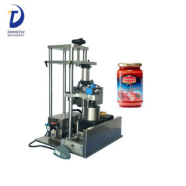 low price manual glass bottle vaccum screw capping machine/lid capping machine