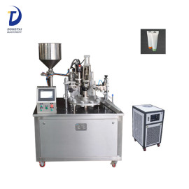 Semi-Automatic lami tube filling machine,hot air heating glue tube filling and sealing machine