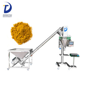 Semi auto weighing cocoa powder/milk powder/cake powder filling machine
