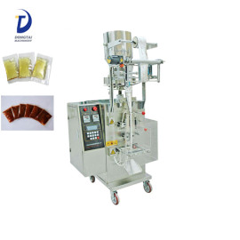 Automatic liquid / chili sauce sachet filling sealing packing machine , coconut oil packing machine
