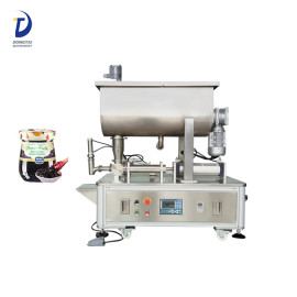 Semi-automatic peanut paste/meat paste filling packing machine with mixer