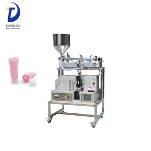 Semi-Automatic ultrasonic face-cleanser filling and sealing machine for small business