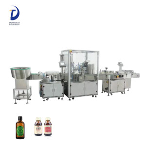 automatic small bottle filling capping and labeling machine for perfume,cosmetics,syrup