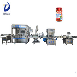 Automatic High Speed Glass Bottle Tomato Sauce Paste Food Filling Machine