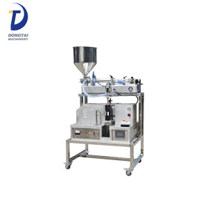 Semi-Automatic Ultrasonic Cosmetic toothpaste ointment tube filling and sealing machine