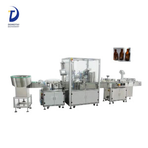 essential oil small bottle gorilla filling capping and labeling machine