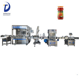 Strawberry / tomato sauce glass bottle filling machine