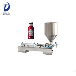 Chili sauce filling machine, sauce quantitative filler machinery, pneumatic filling machine