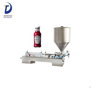 Chili sauce filling machine, sauce quantitative filler machinery, pneumatic filling machine
