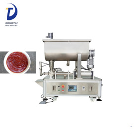 Horizontal mixing peanut butter / hot sauce / chili sauce filling machine