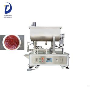 Horizontal mixing peanut butter / hot sauce / chili sauce filling machine