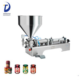 cherry / rose / black mulberry preserve filling machine FLG / apricot / peach jam paste filling machine