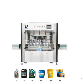 automatic 5 liters 6 heads lubricant oil/motor oil bottle filling machine 5 liter oil