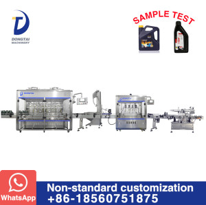 filling machine and production line for automatic Lube/engine/edible/olive oil filler bottling