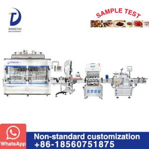 Automatic chocolate paste/tomato paste filling machine production line