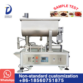 Semi automatic manual / peanut / tomato / food paste filling machine with mixer
