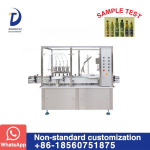 Automatic 500 ml olive oil bottle filling and capping machine