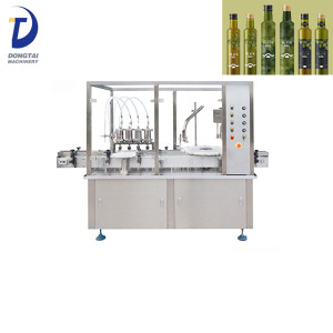 Automatic rotary glass bottle olive oil bottle filling and capping machine