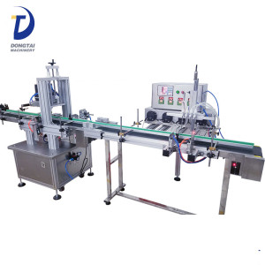 semi automatic plastic bottle juice beverage olive oil filling labeling small machines