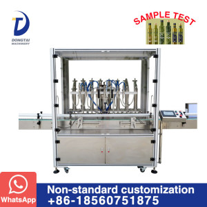 automatic olive oil glass bottle filling and capping machine for olive oil